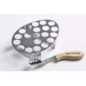 Подставка для 20 фаршированных перчиков с ножом Big Green Egg Jalapeno Grill Rack & Corer Set