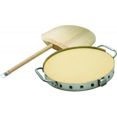 Керамический круг для пиццы профессиональный Broil King с держателем из нержавеющей стали