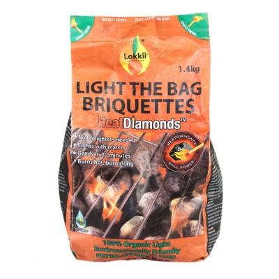 Брикеты эко-угольные Lokkii Light the bag 1.4 кг