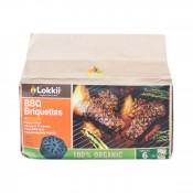 Эко-угольный брикет саморозжигающийся Lokkii 6 шт. в упаковке