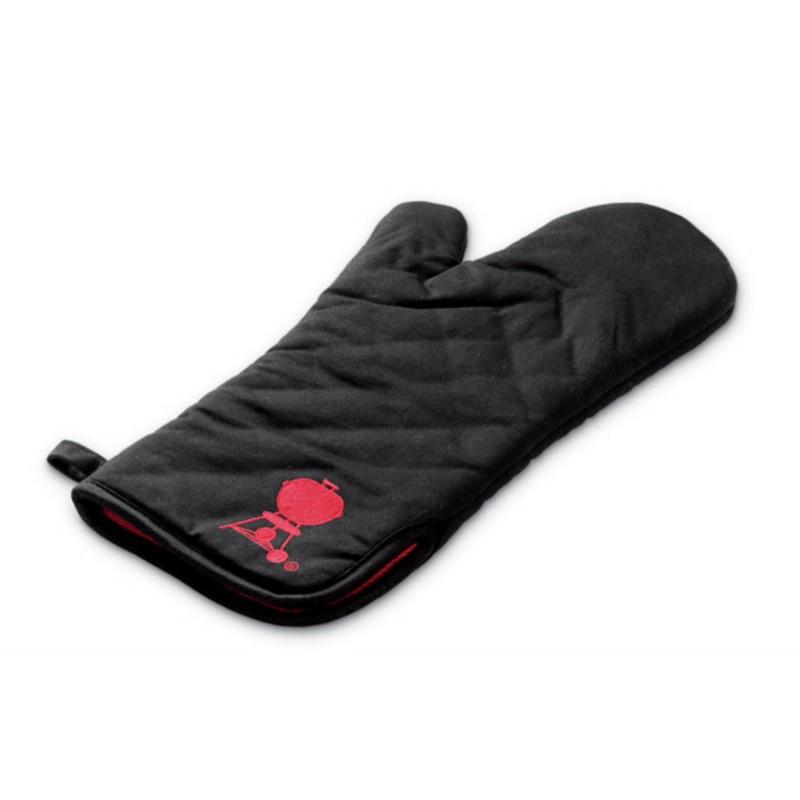 Перчатка черная с красным логотипом Weber BARBECUE MITT, BLACK W/RED KETTLE