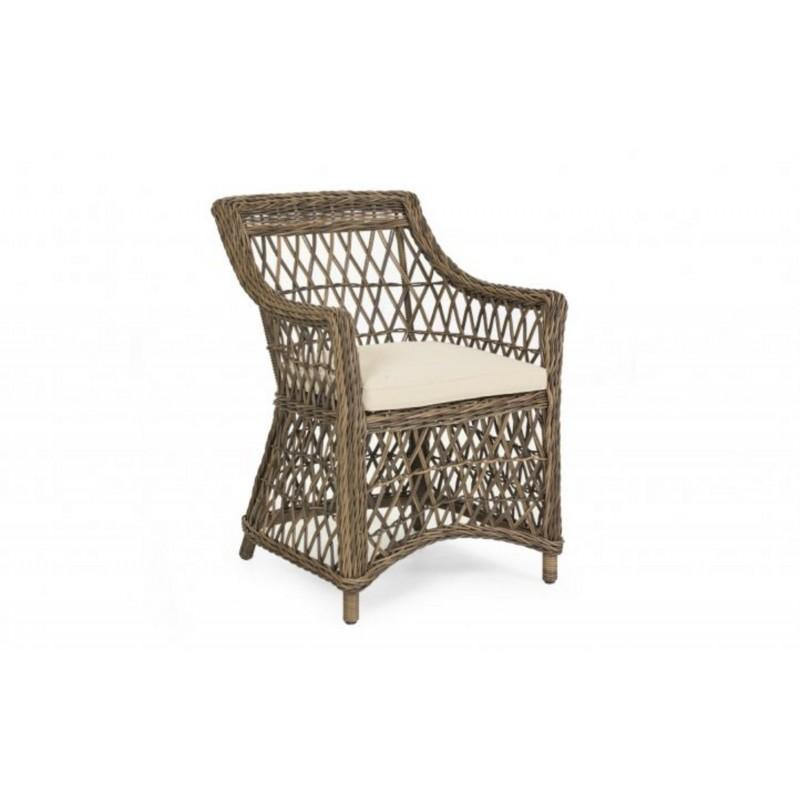Кресло плетеное Brafab Beatrice Цвет: коричневый/бежевый