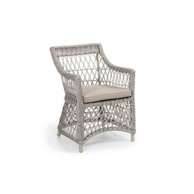 Кресло плетеное Brafab Beatrice Цвет: античный белый/бежевый