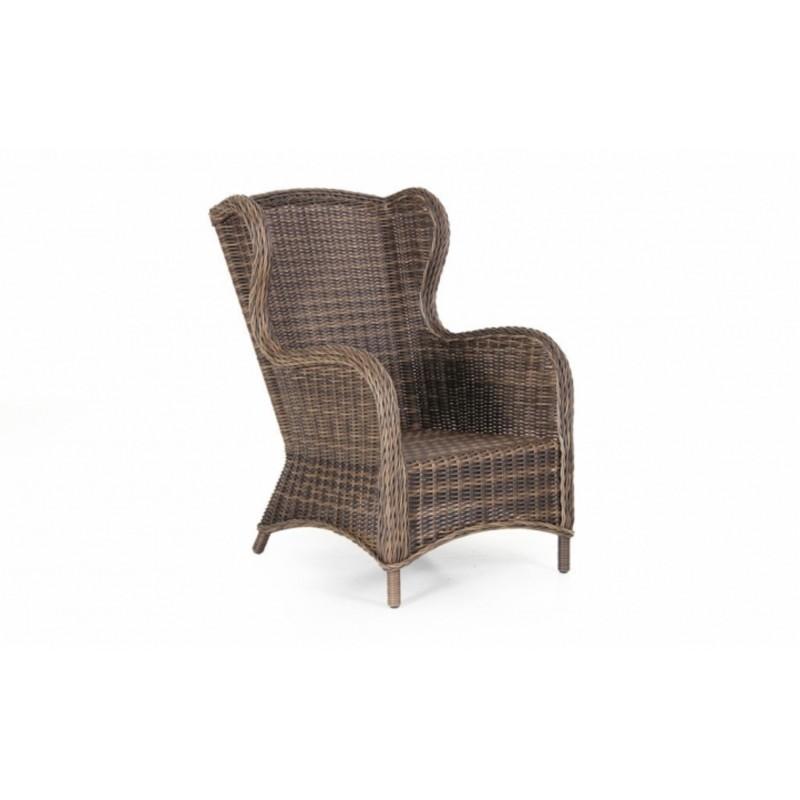 Кресло плетеное Brafab EVITA BROWN