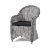 Кресло плетеное Brafab PAULINA GREY Цвет: серый/черный