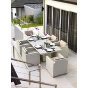 Стол обеденный со стеклом Skyline Design PACIFIC 2379