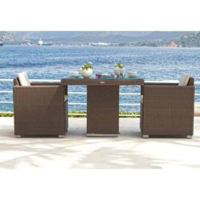Стол обеденный со стеклом Skyline Design PACIFIC 2378