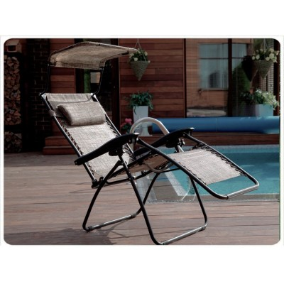 Раскладное кресло шезлонг ZD-1 цвет бронза