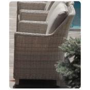 Кресло из искусственного ротанга ТОСКАНА в комплекте с подушками