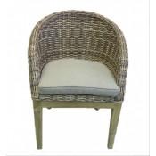 Ontario brown кресло обеденное