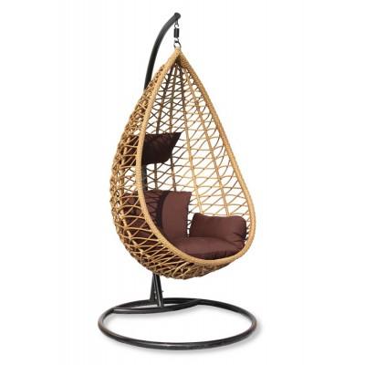 Плетеное подвесное кресло из ротанга AURA