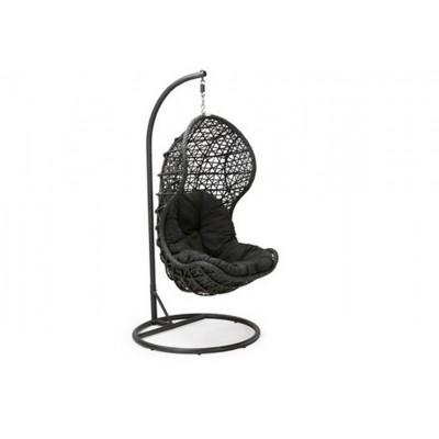 Подвесное кресло из ротанга CAND BLACK