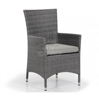 Кресло плетеное Brafab NINJA GREY