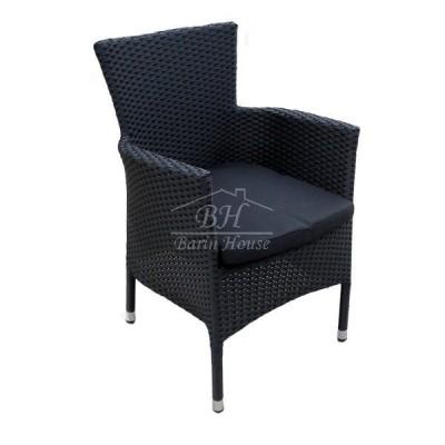 Плетеное кресло AROMA черное