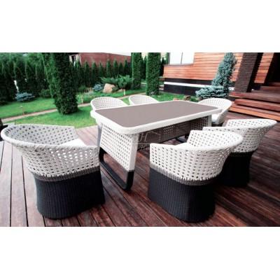 CROCODILE-202140 обеденная группа Комплект мебели из ротанга
