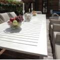 Раскладной большой обеденный стол ТОСКАНА из алюминия