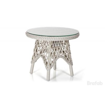 Стол плетеный Brafab Beatrice 60 Цвет: античный белый