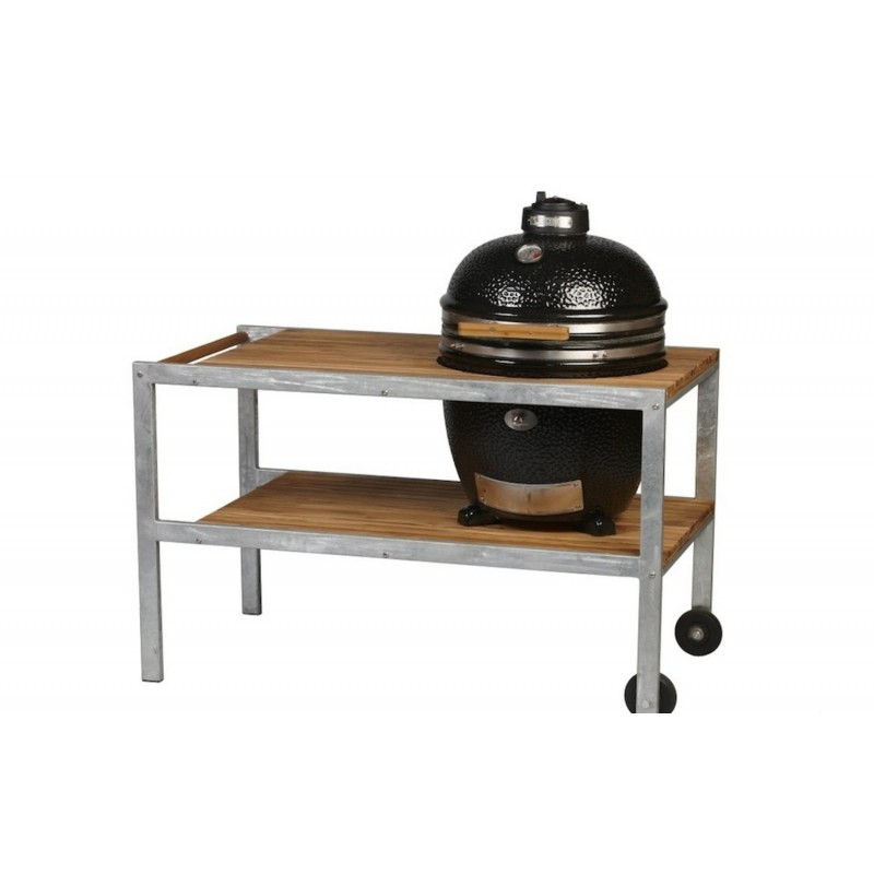 Керамический гриль Monolith Grill black (черный) со столом