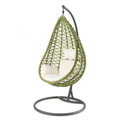 Плетеное подвесное кресло AURA GREEN