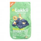 Брикеты эко-угольные Lokkii 3 кг