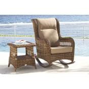 Кресло качалка с подушками Skyline Design EBONY 22866