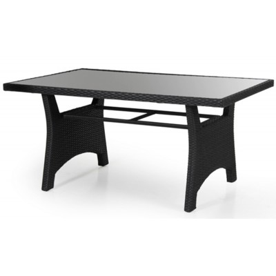 Стол плетеный Brafab CALLAS 145 Цвет: черный