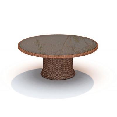 Стол обеденный со стеклом Ø160 Skyline Design EBONY 22570