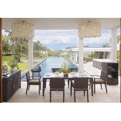 Стол обеденный со стеклом Skyline Design MALTA 2388