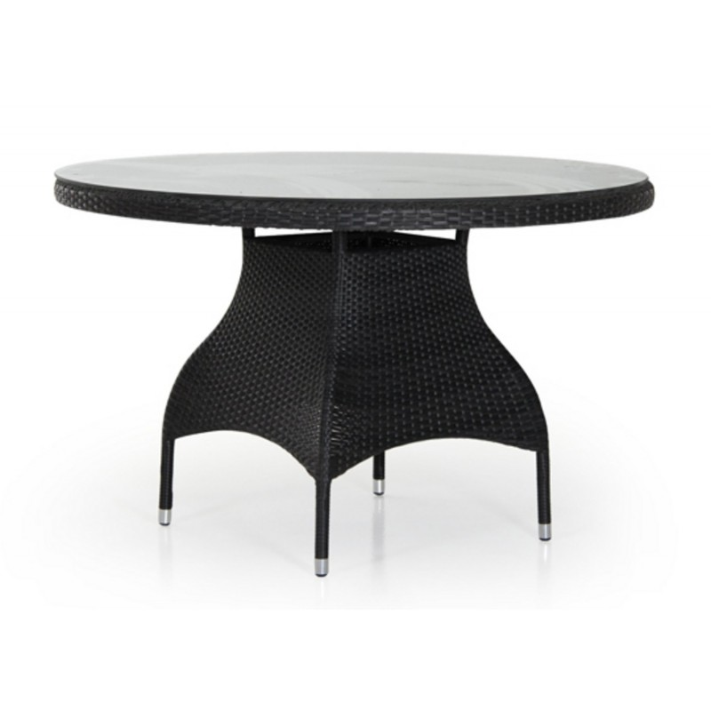 Стол плетеный Brafab NINJA BLACK 120