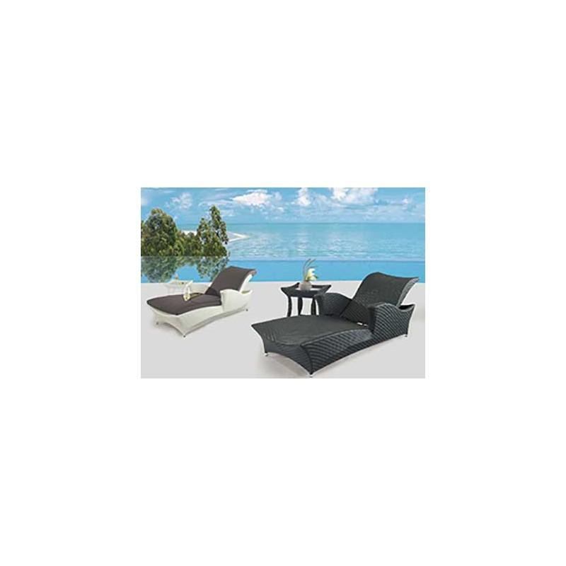 Лежак Скайлайн со столиком