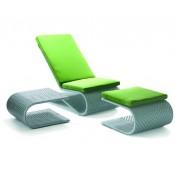 Шезлонг с подставкой для ног и столиком Хай Тек (Hi-Tech)