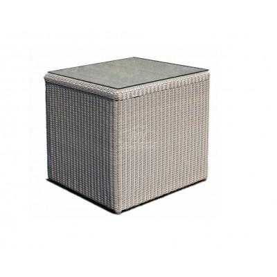 Стол приставной со стеклом Skyline Design CALDERAN 21115