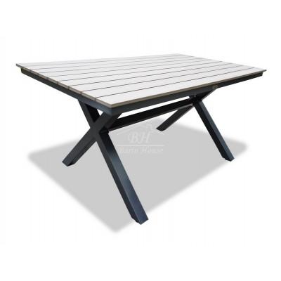 Алюминиевый стол AROMA 150 см светло-коричневый