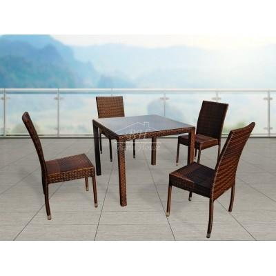 Комплект плетеной мебели MILANO темно-коричневый