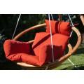Подвесное деревянное кресло качели с подушками - комплект МАЙЯ SET