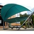 Подвесное кресло гамак ИБИЦА (цвет бирюзовый/ зеленый/серебро)