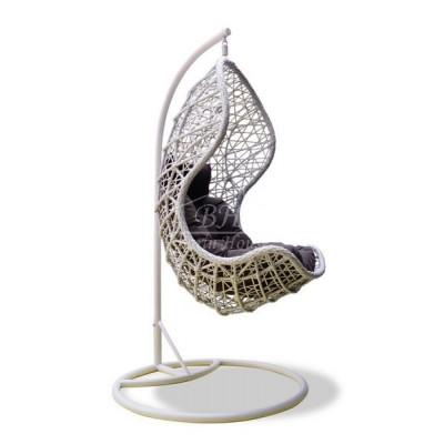 Плетеное подвесное кресло CAND VANILLA