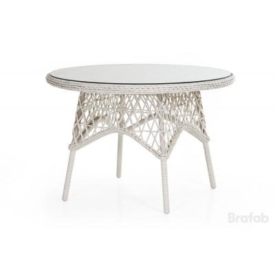 Стол плетеный Brafab Beatrice 110 Цвет: античный белый