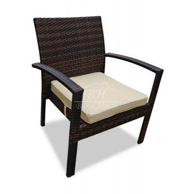 Плетеное кресло MILANO темно-коричневое