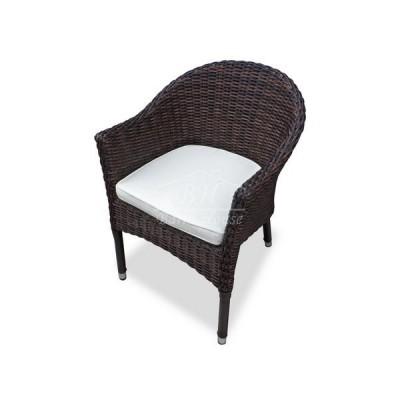Плетеное кресло WARSAW темно-коричневое
