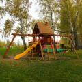 Детский игровой городок Зарница и рукоход с деревянной крышей